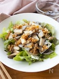 『和風玉ねぎドレで。炒めれんこんとエリンギのサラダ』#簡単
