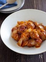 豚こま団子の甘酢炒め