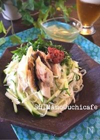 『塩鯖と練り梅のさっぱりかけ素麺』