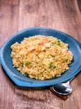 シンプルに作る「カレー風味の海老チャーハン」