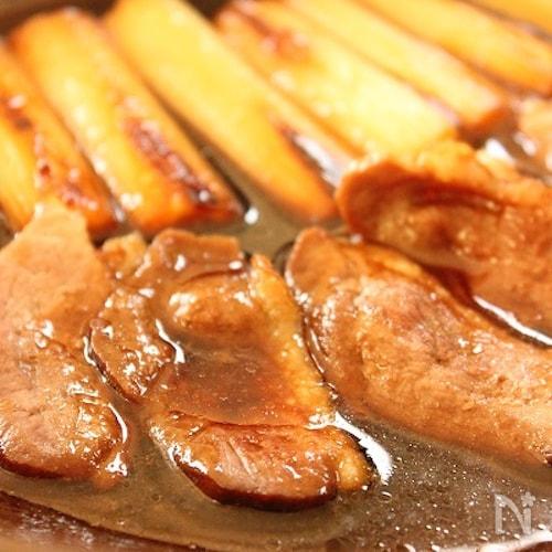 鴨肉と長ねぎの陶板焼き