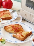 カスタード&アップルシナモンのスイーツトースト