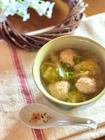 とろとろ白菜と鶏だんごのコク旨スープ