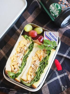 【15分弁当】鶏玉ごぼうのサンドイッチ弁当