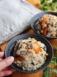 ひじきと大豆と鶏ひき肉の炊き込みご飯