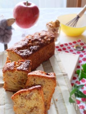 【適糖生活】クルミとりんごのキャラメリゼパウンドケーキ