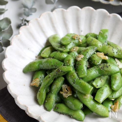 ガリバタペッパー風味のおつまみ枝豆