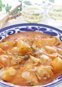 『トローリチーズの鶏肉のデミグラスソース煮』