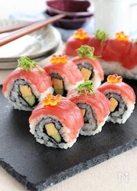 『まぐろのロール寿司』