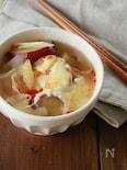 さつまいものピリ辛ラー油とチーズ味噌スープ