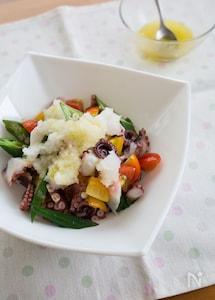 タコと夏野菜のおろし和え ガーリックビネガードレッシング