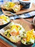 和風えびアボポテトサラダ☆七味マヨで減塩