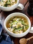 豆苗とキャベツのかき玉スープ【#包丁不要】