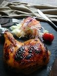 お弁当に1:2〜魚焼グリルで簡単鶏もも肉のローストチキン〜