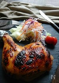 『お弁当に1:2〜魚焼グリルで簡単鶏もも肉のローストチキン〜』
