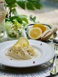 ツナレモン冷製クリームパスタ
