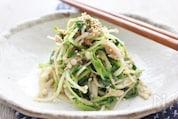 豆苗とえのき茸のナムル、ゆず胡椒風味