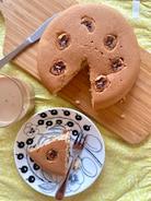 フライパンでふわふわ♡バナナケーキ#バター不使用#低カロリー