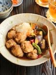 豚こま唐揚げとなすのおろし煮(動画あり)