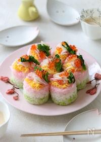 『ひな祭りの3色押し寿司。』