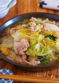 『重ねて放置♪包丁不要『豚バラ白菜とはるさめの上海風とろみ煮』』