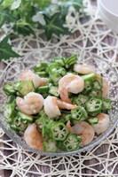 めちゃ旨!夏のヘルシー副菜♡むき海老とオクラの柚子胡椒レモン