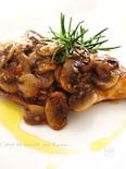 塩麹で柔らか鶏胸肉マシュルーム味噌ソース