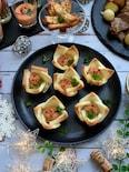パーティーに!食パンカップのサバ・トマ・クリチペースト