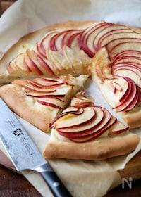 『リンゴとチーズのスイートピザ。』