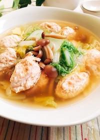 『たくさん食べよう♪白菜と鶏だんごのスープ煮』