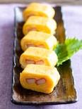 カニカマ巻きの卵焼き