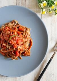 『【絶品!】鯖とローズマリーのトマトパスタ』