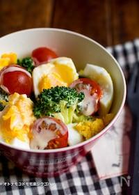 『ブロッコリーと卵のデリ風サラダ』