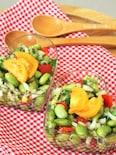 イタリアンドレッシングde蒸しひたし豆のサラダ