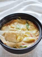 焼かない!ノンオイルの土鍋で作る豆腐グラタン