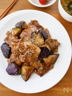 『片手に白米!豚肉となすの生姜焼き』#ご飯が進む#どんぶり