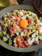 野菜たっぷり!海鮮丼(動画あり)