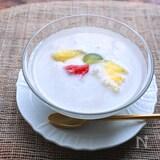 フルーツ入り甘酒のヘルシータピオカミルク
