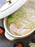 サラダチキンと素麺で簡単!即完成しゃぶしゃぶにゅう麺鍋