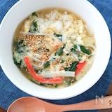 これ1品で栄養満点☆簡単すぐ出来る!かにかまニラ玉スープご飯