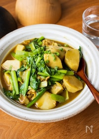 『『里芋と小松菜の和風カレーとろみ煮』#ご飯に合う#簡単』
