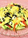 味噌ドレッシングdeひじきと彩り野菜のサラダ