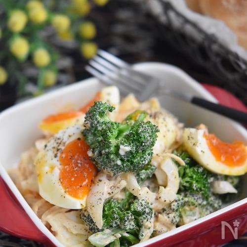 ブロッコリーと卵のオーロラデリ風サラダ