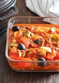 『鶏肉とブラックオリーブのトマト煮』