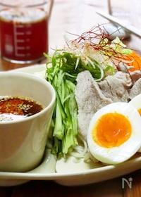 『めんつゆで広島風つけ麺』