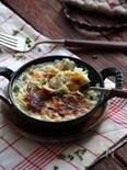 白菜とハムのお手軽グラタン。