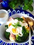 【卵の切り方でデリ風】材料3つ*ブロッコリーのデリ風サラダ