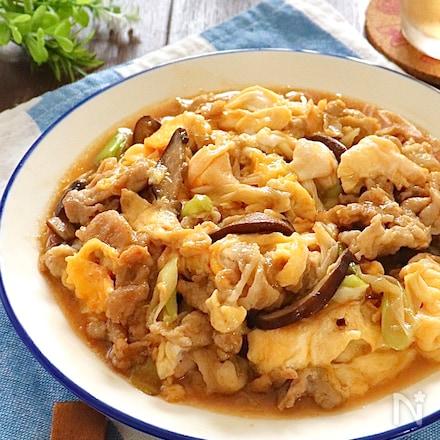 まるで中華店の味♡豚肉とふんわり卵のいりつけ