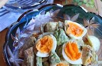 ちくわアボカドゆで卵のハニーマスタードサラダ