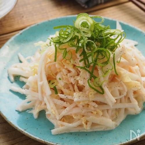白菜と大根のしゃきしゃき明太マヨサラダ【大量消費・ヘルシー】